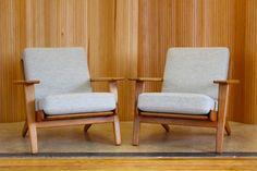hans wegner oak plank sofa model ge 290 3 manufactured by