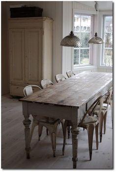 oldfarmhouse:  This is a Original Farmhouse Table    By Oswald Mill Farm @pinterblog To @oldfarmhouse
