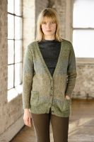 Knit Enya, a ladies v neck cardigan from Rowan Knitting and Crochet Magazine designed by Marie Wallin using Felted Tweed and Kidsilk Haze. Rowan Knitting, Rowan Yarn, Knitting Books, Sweater Knitting Patterns, Vintage Knitting, Knitting Yarn, Knitting Sweaters, Knitting Ideas, Tweed