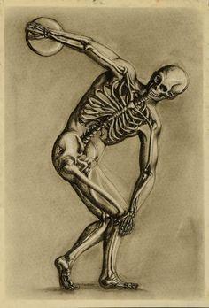 Famous portrait, draw just the skeleton