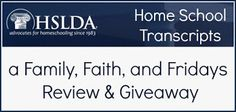 Family, Faith, and Fridays: High School Transcript Help and Giveaway Creat a high school qickly and easily! #homeschool #highschool #transcripts