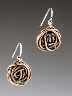 Hey, I found this really awesome Etsy listing at https://www.etsy.com/listing/96327088/oxidized-copper-rose-earrings-copper