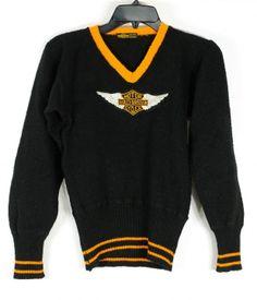 VIntage Harley Davidson Sweater 1930's front