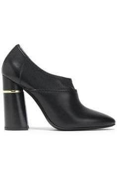 $130.0. 3.1 PHILLIP LIM Boot 3.1 Phillip Lim Woman Kyoto Leather Ankle Boots Black #31philliplim #boot #anklehigh #leather #s Block Heel Ankle Boots, Black Ankle Boots, Block Heels, 3.1 Phillip Lim, Leather Ankle Boots, Heeled Mules, Slip On, Booty, Woman