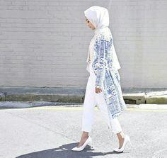 Mosaic Blazer Cardi | @hijabhouse