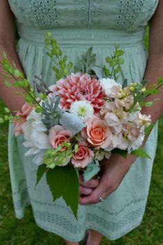 peaches & greens bouquet