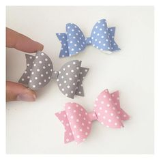 These cute little bows are available in 3 colours Blue Pink Grey Approx 2.5 inches Violets Bowtique hair accessories make excellent gifts for newborns, baby showers, and birthdays. Theyre also the perfect hair accessory for weddings, holidays and baptisms.  All of our products are