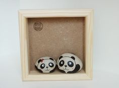 石panda painted rocks