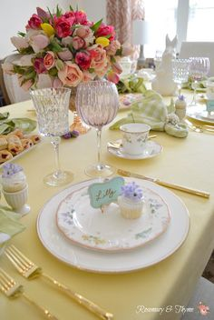 Rosemary and Thyme: Spring Tablescape Blog Hop ~ Ladies Lunch