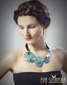 Tyrkys necklace made by Eva Sušanská