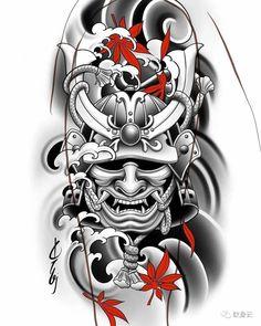 Japan Tattoo Design, Japanese Tattoo Designs, Japanese Tattoo Art, Japanese Sleeve Tattoos, Tattoo Design Drawings, Japanese Warrior Tattoo, Japanese Dragon Tattoos, Samurai Tattoo Sleeve, Dragon Sleeve Tattoos