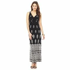 Chaps Scroll Empire Maxi Dress #Kohls   - love the empire waist and the patter d the pattern on the dress.