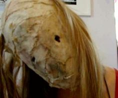 Fairly easy to make burlap mask, Good for making a silent hill nurse, leatherface, or scarecrow