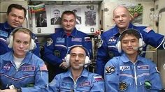 Intl. Space Station @Space_Station  4h4 hours ago Station crew expands to six after new arrivals complete 2-day trip to station. http://go.nasa.gov/29FfSUr   РОСКОСМОС, JAXA Web and NASA