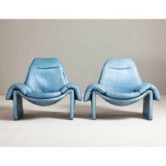 Something old. something blue. 1970s Italian armchairs designed by Vittorio Introini talismanlondon via 1stdibs.jpg