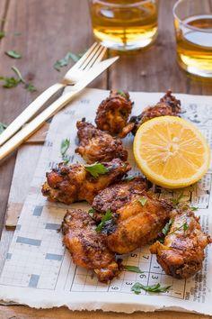 Cocinando sabores: Alitas de pollo de corral con jengibre