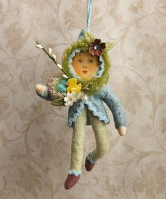 Cotton Easter Sprite Andrew spun cotton Easter by PlumPuppets, $25.00