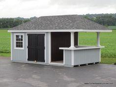 Backyard Bar, Backyard Pool Designs, Patio Gazebo, Backyard Sheds, Outdoor Sheds, Pool Side Bar, Pool Bar, Bar Shed, Shed With Bar
