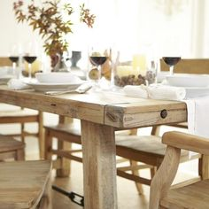 Pottery Barn - Benchwright in wax pine.