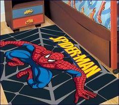 spiderman black 133x200cm large kids rug childrens rug baby rug play