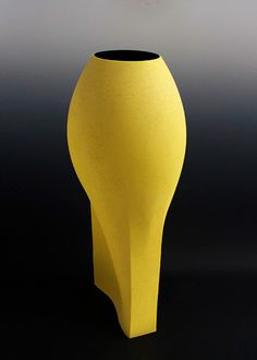 Ceramics by Ashraf Hanna at Studiopottery.co.uk - 2011. Yellow vessel, height 78cm.