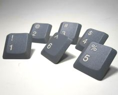 these are really getting the <3s today !Push Pins Computer Keyboard Numbers Upcycled by clonehardware, $7.50
