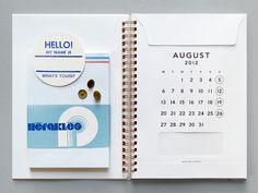 Envelope journal. Holds papers, mementos, etc. Supercool.