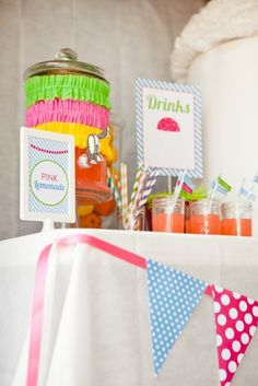Anna Claire's Snow Cone Party | CatchMyParty.com
