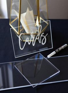 Clear Acrylic Pieces for DIY Wedding