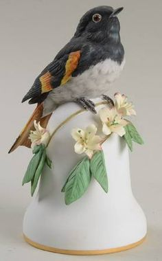 American Redstart - Franklin Mint Bird Bells-Porcelain at Replacements, Ltd