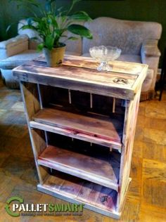 "Repurposed Bookcase    About.   PalletSmart's mission is to recycle old, discarded pallets and build items for sustainable, ""greener"" living. ""LIKE"" our profile for updates and giveaways Palletsmart360.com"