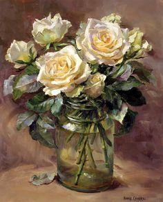 Quando vejo a beleza de suas pinturas não tenho dúvidas que deveria amar muito as flores.