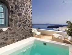 A balcony of blue, just for you! #luxury #easyliving #summer More at tholosresort.gr/santorini_hotel_photogallery/