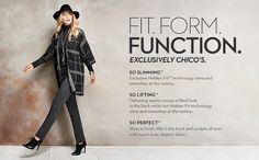 Fit.Form.Function.  The So Slimming™ Peyton Pant. Step 1: Add a long layer. Step 2: Dress it up with a tassel necklace. Step 3: Finish it with a Fedora.
