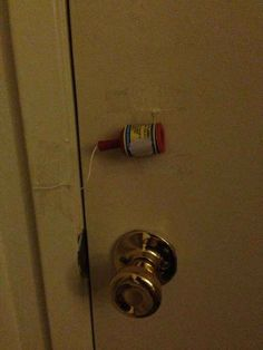 Catch kids trying to sneak out with this clever little hack. | 33 Genius Hacks Guaranteed To Make A Parent's Job Easier