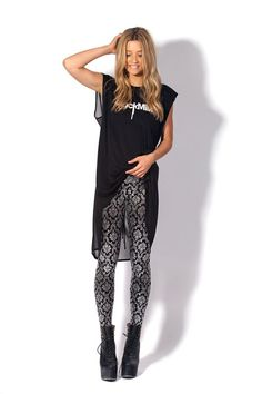 f9786f909c0 WANT - Wallpaper Shiny Shiny (And High-Waisted!) Leggings by Black Milk