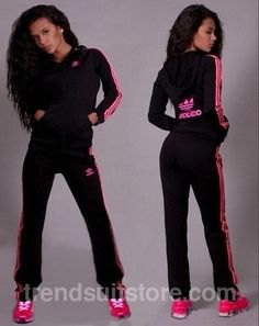 Article Order of this product only by wholesale catalog at our website.  Stylish womens velour black and pink sweatsuit. cc4725084