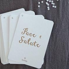 """Les cartes de vœux """"Pace & Salute"""" bylfdp"""