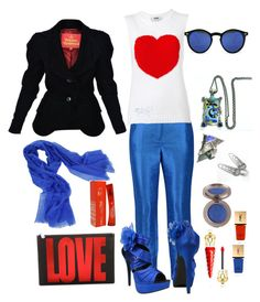 """""""Love is in the air..."""" by silverchamberjewelleryuk on Polyvore featuring Halston Heritage, MSGM, Vivienne Westwood, Givenchy, Spitfire, Sofiacashmere, Yves Saint Laurent, Christian Louboutin and Kenzo"""