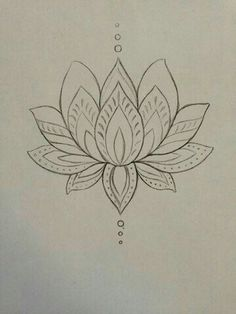 Simple lotus tattoo design