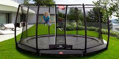 Trampolina BERG InGround Champion 330 cm z siatką Deluxe Trampoline With Net, Sunken Trampoline, Trampoline Ideas, Dream Home Design, House Design, Trampolines, Outdoor Furniture, Outdoor Decor, Garden Design