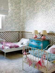 kids room, vintage style! I love it! #kids #kidsroom #homedecor