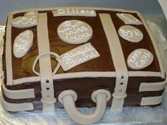 Going away suitcase cake..my first cake