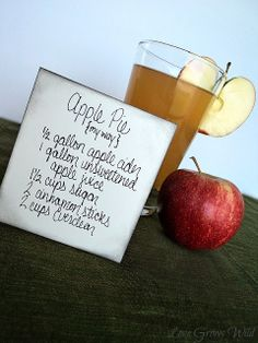 ADULTS ONLY Liquid Apple Pie Recipe! The perfect Fall beverage to warm you up! by Love Grows Wild #recipe #drink #apple