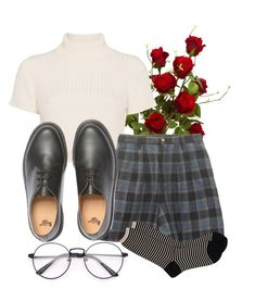 """raindrops on roses and girls in white dresses"" by qimmig on Polyvore featuring Staud, Dr. Martens and Antipast"