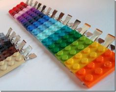 Lots of Lego ideas! These hair clips are COOL! For Sophie!