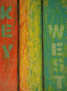 Key West by AbstractWayofLife on Etsy, $94.00