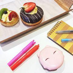Our afternoon treats!   #hellocos #tonymoly #petitbunnyglossbar #catswinkclearpact #cutemakeup #kbeauty #koreanskincare #koreanmakeup #asianmakeup #asianskincare