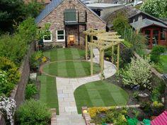 idée bordure jardin gazon-pierre-petit-espace