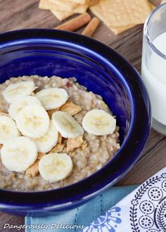 Banana Cream Pie Steel-cut Oatmeal